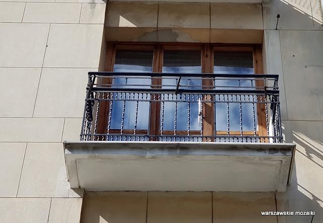 Warszawa Warsaw Mokotów Śródmieście warszawskie ulice architektura architecture kamienica kamienice lata 30 balkon