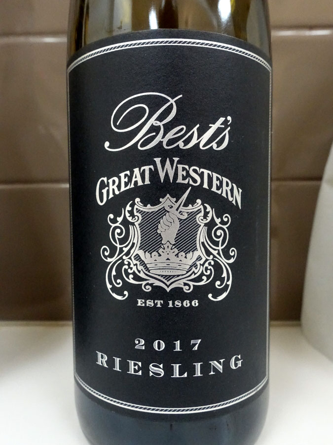 Best's Great Western Riesling 2017 (90 pts)