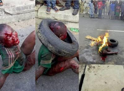 So Sad! Hungry 7yrs Old Boy Set Ablaze To Death For Stealing Garry In Lagos