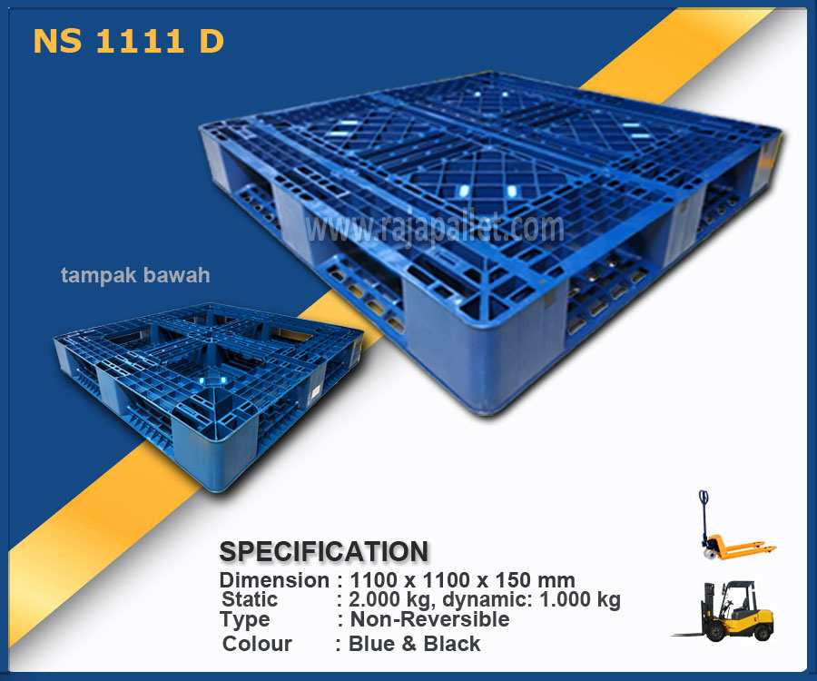 Pallet Plastik Baru dari Pabrik Ukuran 110x110x150 Harga Terjangkau