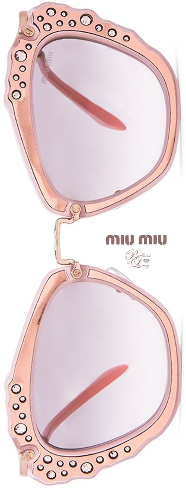 Brilliant Luxury ♦ Miu Miu Embellished Cat Eye Sunglasses