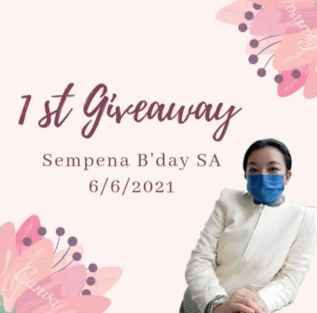 1st Giveaway Sempena B'day SA 6 June 2021