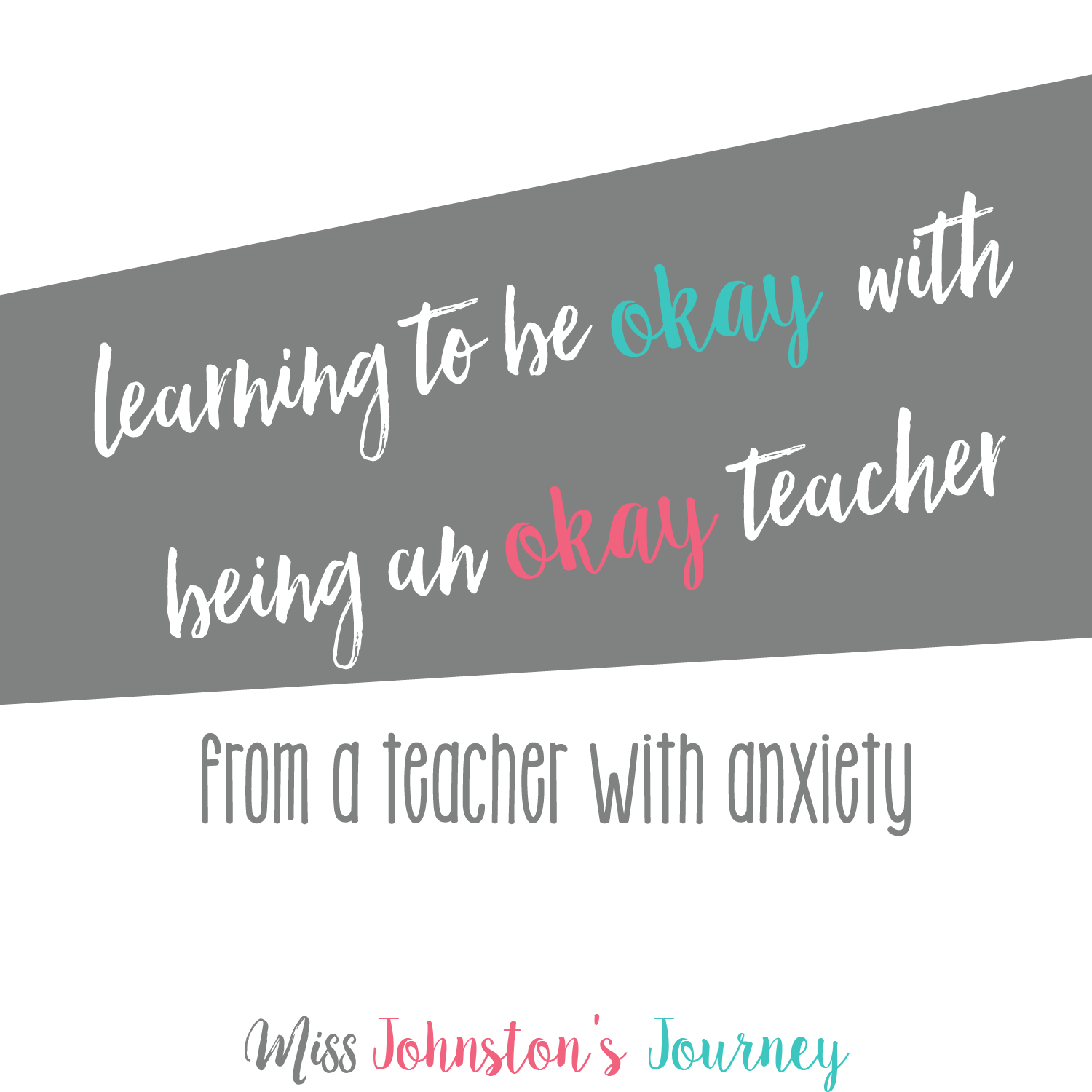 Can T Do My Job Because Of Anxiety learning to be okay with being an okay teacher - miss