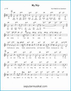 chord my ship lagu jazz standar