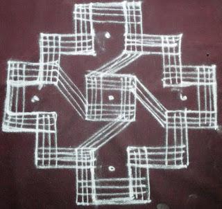 Navarathri Padi Kolam design - 6