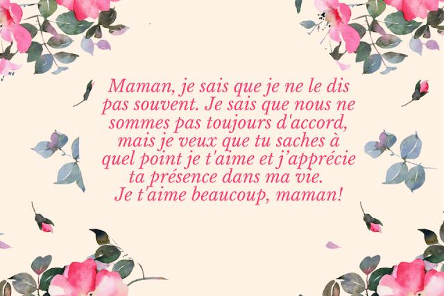 Messages d'amour pour maman