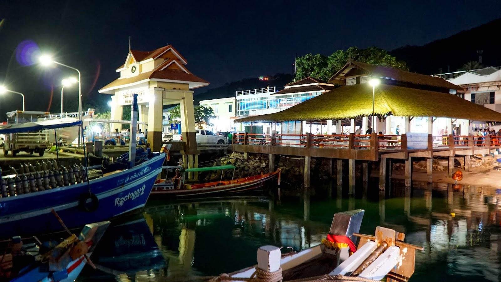 Arrival at Mae Haad pier, Koh Tao