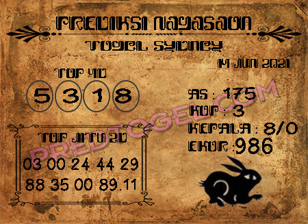 Prediksi Nagasaon Sdy hari ini Senin