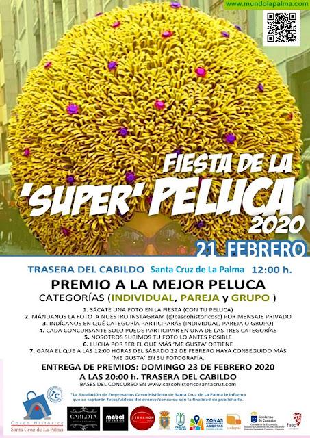 Premio a las mejores 'Super Pelucas' este viernes en Santa Cruz de La Palma