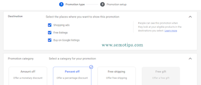 Create a Promotion in Google Merchant Center
