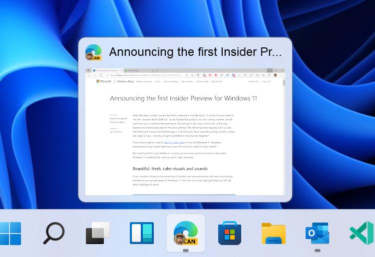 Download, installazione e novità di Windows 11 - Build 22000.71