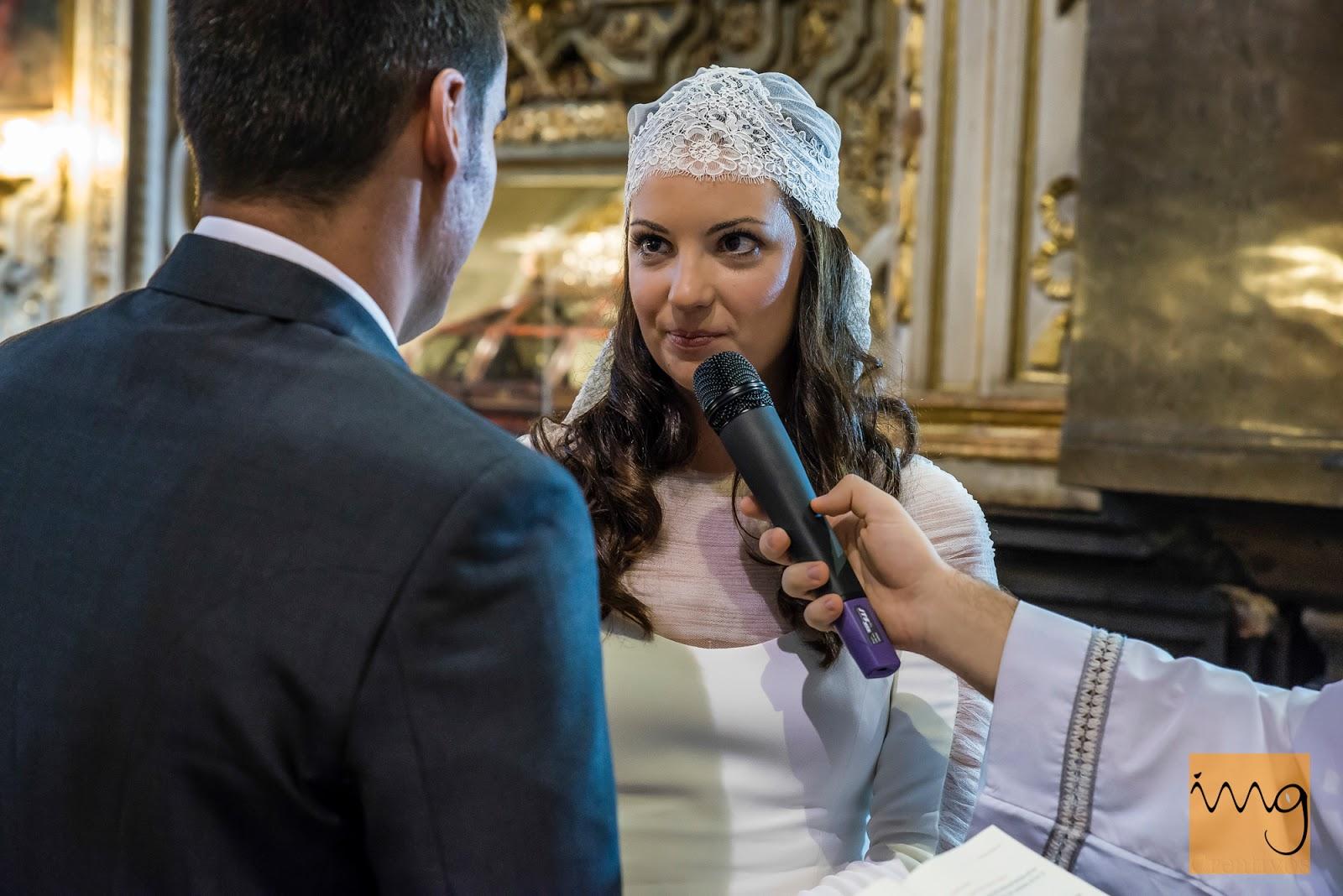 Fotografía de boda en Granada, los votos