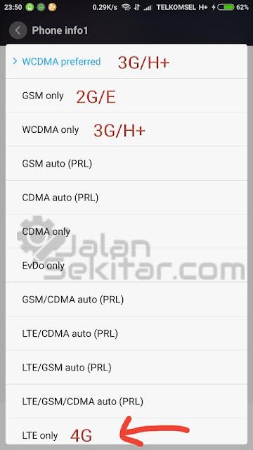 Cara Mengaktifkan Jaringan 4G di Xiaomi Redmi Note 4