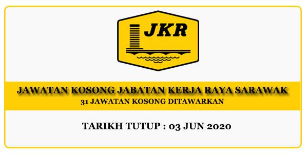 Jawatan Kosong Jabatan Kerja Raya Sarawak - 31 Jawatan Ditawarkan