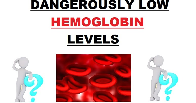 Dangerously low hemoglobin levels - HEMOGLOBIN LEVEL