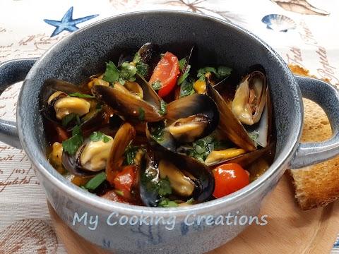 Супа от миди по сицилиански * Zuppa di cozze alla siciliana