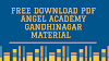Angel Academy Gandhinagar Material PDF Download