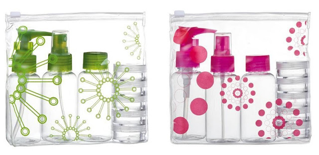 Kit de frascos porta líquido para viagem