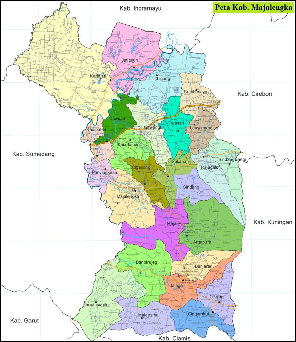 Peta Kabupaten Majalengka