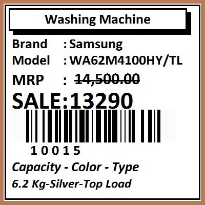 Barcode Label for White Goods Inventory Management