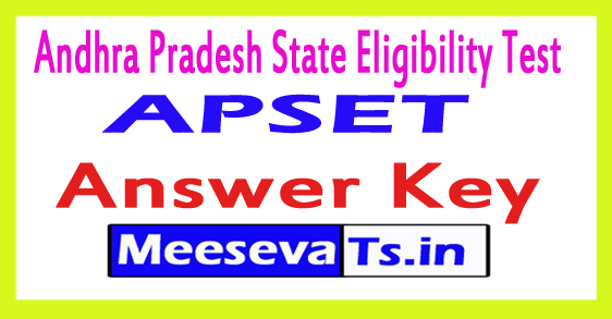 APSET Answer Key 2017
