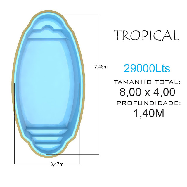 Piscina de fibra Tropical