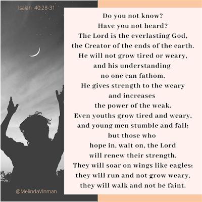 Meme that states Isaiah 40: 28-31