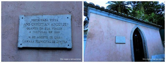 Casa donde residió Hans Christian Andersen en Sintra, Portugal
