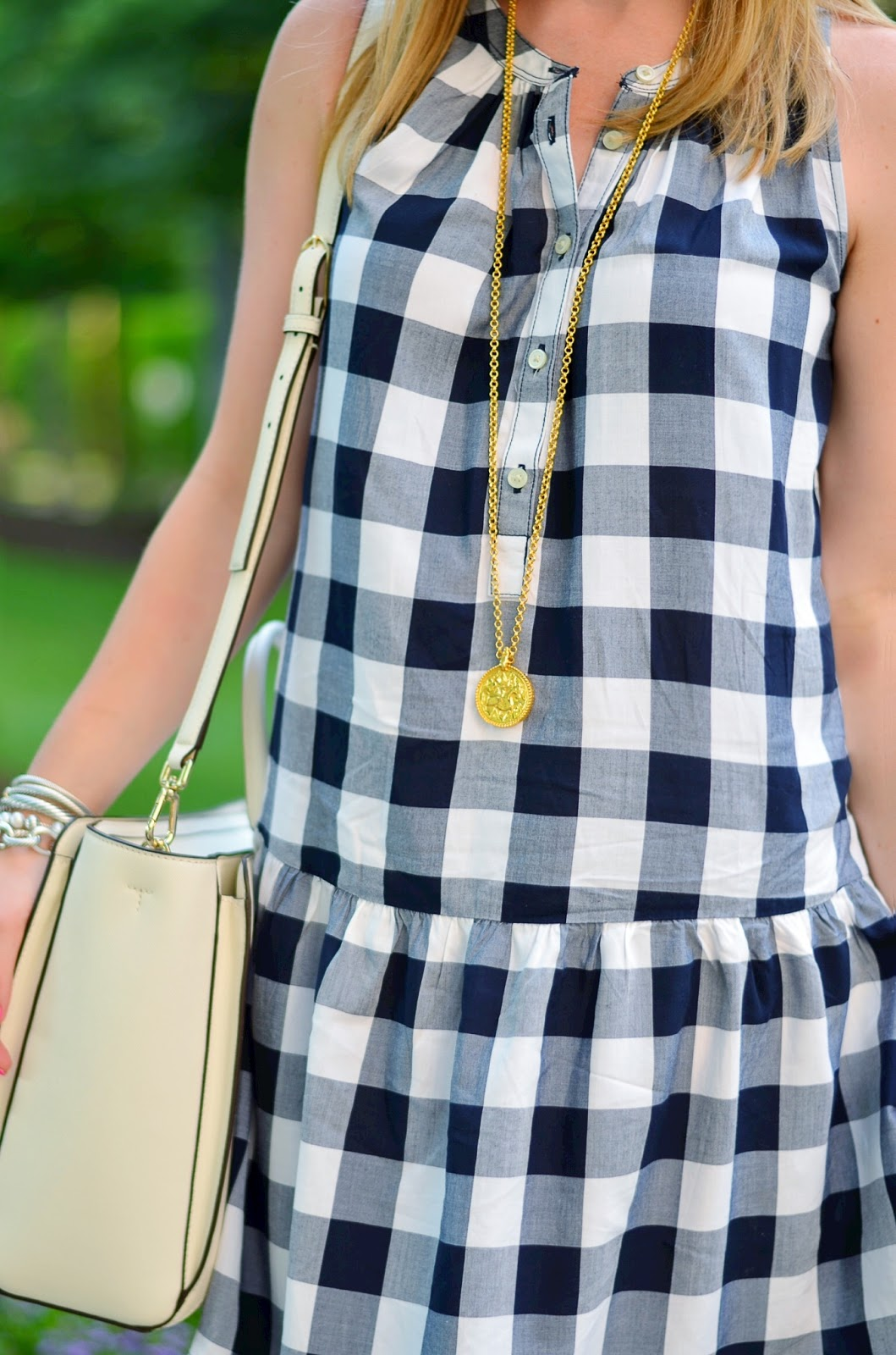 Navy & White Gingham