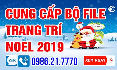 File Trang trí Noel Merry Christmas 2019
