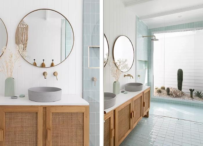 Mueble con cannage para el baño by Habitan2 | Papelería y decoración de eventos Habitan2