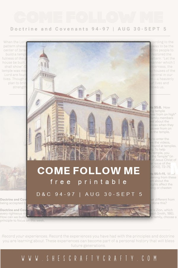 Come Follow Me printable Aug 30 - pinterest pin.