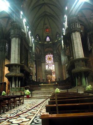 interior catedral de Milán