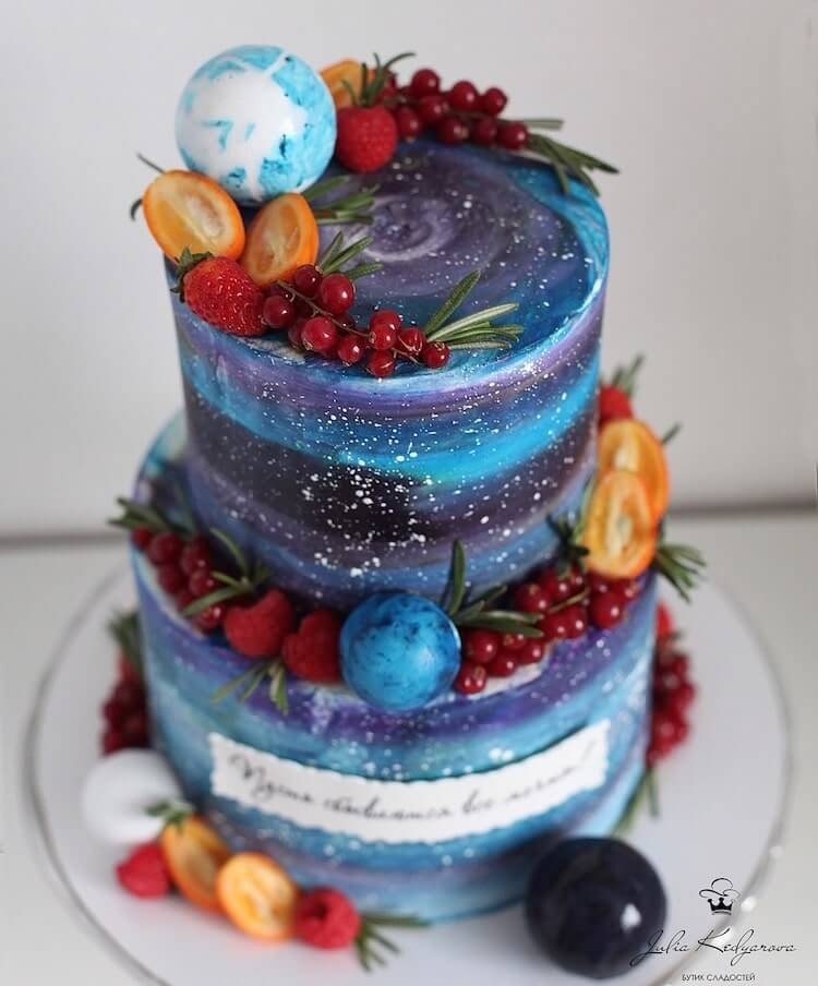 This Baker Makes Incredible Cakes With Beautiful Galaxies And Secret Gardens In Them