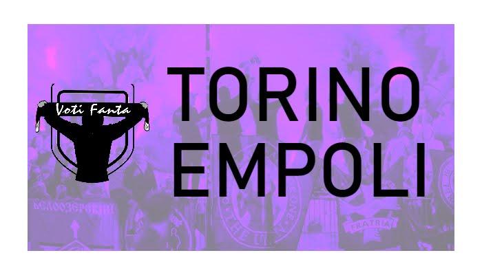 Preview TORINO EMPOLI: probabili formazioni, infortunati e ultime notizie