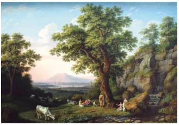 UNESP 2021: A obra Paisagem italiana (1805), do pintor alemão Jakob Philipp Hackert (1737-1807), remete, sobretudo, ao ideário do