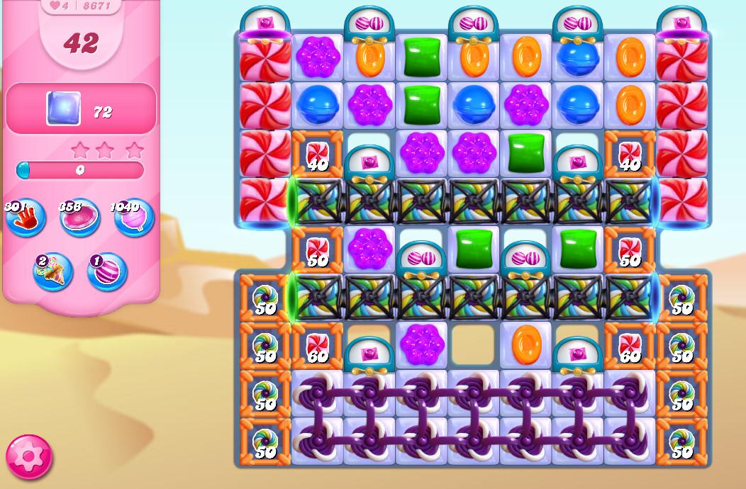 Candy Crush Saga level 8671
