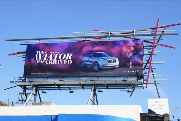 2020 Lincoln Aviator billboard