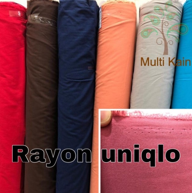 Jenis Jenis Kain Rayon Bahan rayon Uniqlo