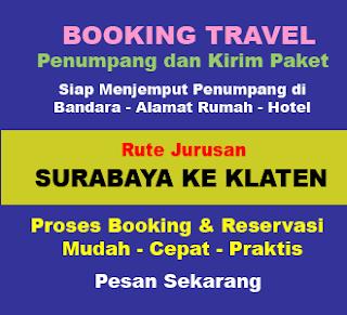 Travel Surabaya Klaten