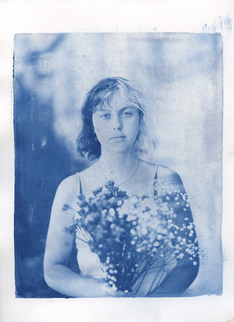 Ella with flowers