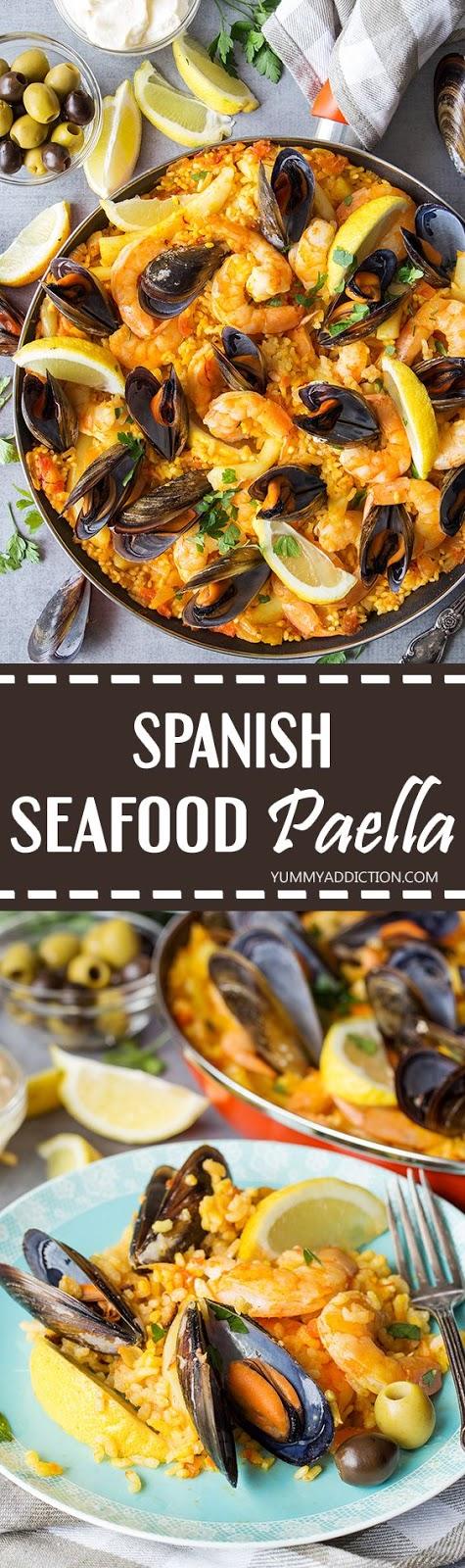 Spanísh Seafood Paella