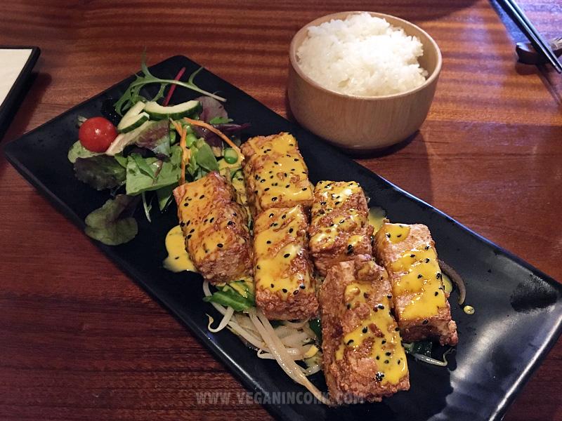 Tofu steak Sakura Japanese Restaurant Cork