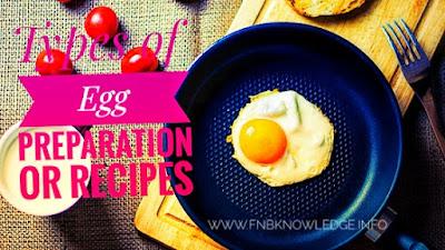 Types of Egg preparation
