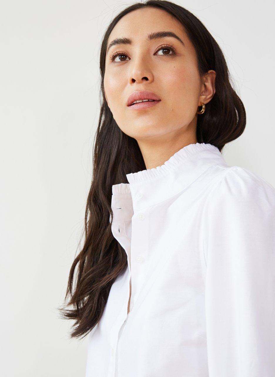 my midlife fashion, Baukjen Sadie organic shirt