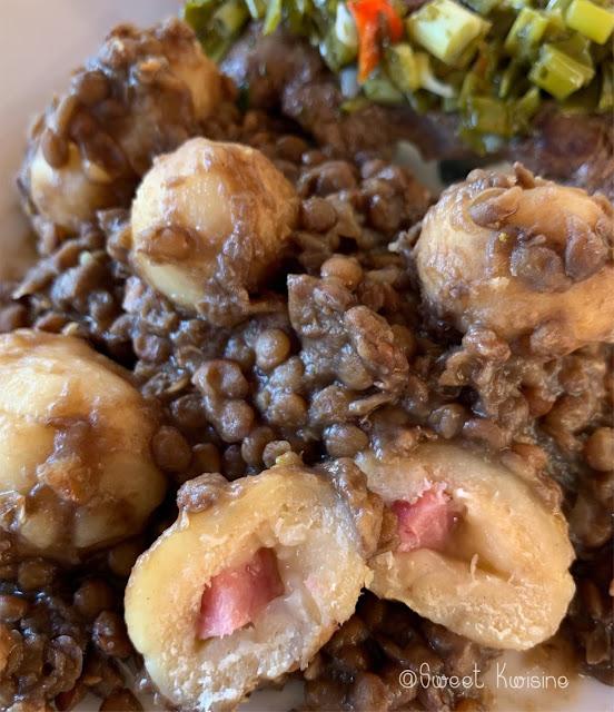 sweet kwisine, cuisine antillaise, cuisine créole, dombrés, lentilles, martinique, guadeloupe