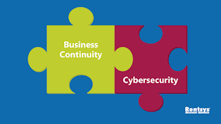 """Business continuity"" and ""cybersecurity"" puzzle pieces"