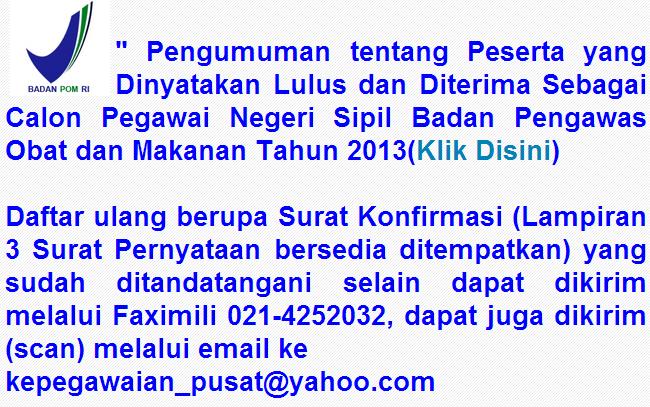 Pengumuman Pns 2013 Samarinda Web Polnes Politeknik Negeri Samarinda Official Website Cpns Badan Pengawas Obat Dan Makanan Bpom 2013 Berbagi Beragam