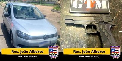 Policiais do 6º BPM prendem homem em posse de um simulacro de arma de fogo no Residencial João Alberto