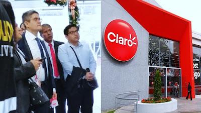 Fiscal Domingo Pérez inspeccionó empresa de telefonía Claro